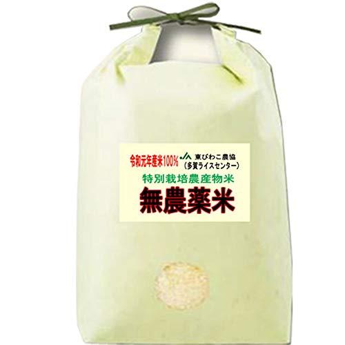 令和 元年度産 無農薬米 滋賀県産 コシヒカリ 5kg 無農薬栽培 / 無化学肥料栽培米 (白米精米(精米後約4.5kg))