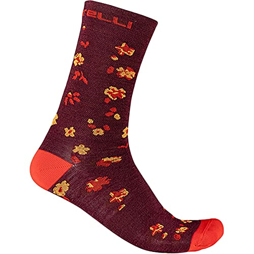 castelli Fuga 18 Sock, Calzini Uomo, PRO Red/Brilliant Orange, L/XL