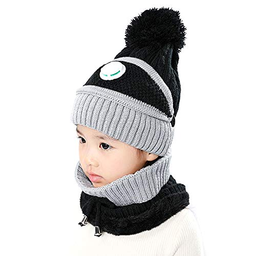 Crazyfly 3 en 1 bufanda de punto para niños, con válvula de respiración para invierno, cálido, cómodo, suave, para niños al aire libre