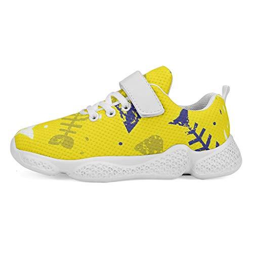 YxueSond Fishbone - Zapatos deportivos ligeros y casuales de malla, suela suave, tenis exteriores, zapatillas de fútbol, calzado para niño, Infantil, blanco, 27