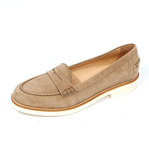 Tod's G0100 Mocassino Donna Suede Light Brown Loafer Women [39]
