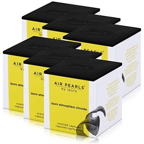 Air Pearls by ipuro Atmosphère Cápsulas aromáticas de citronée, 2 x 5,75 g, aroma de frescura chispeante de hierba de limón combinada con suaves toques florales (6 unidades)