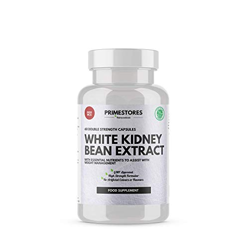 White Kidney Bean Extract for Weight Loss Pills 5000mg - 60 Keto Diet Capsules - High Strength Halal Appetite Blocker Beans Tablets by Primestores