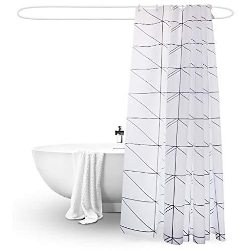 Rideaux de douche Rideau de douche résistant à la moisissure imperméable à l'eau avec des crochets