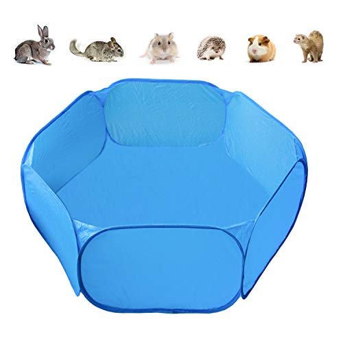 Suplklz Portable Guinea Pig Playpen Hamster Play Pens Small Animal Pet Temporary Playground for Rabbits Chinchillas Hedgehogs, Indoor Outdoor Exercise Cage Tent