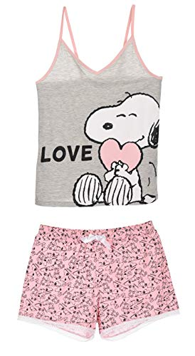 Snoopy Damen Kurz Pyjama Schlafanzug