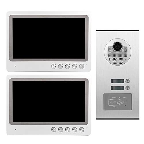 Timbre HD, intercomunicador de video digital de alta definición en color CMOS con walkie talkie a prueba de lluvia para llamadas de larga distancia para conserjes para apartamentos en villas(Transl)