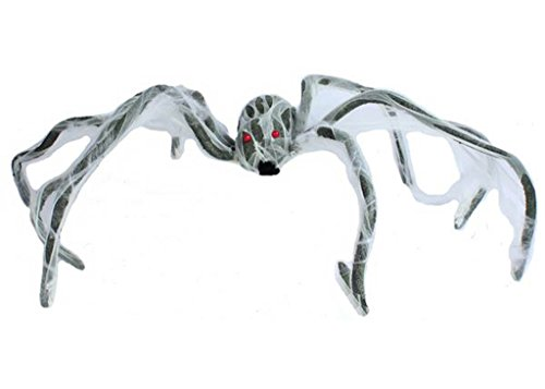 Giant Zombie Spider with Cobweb Halloween Prop