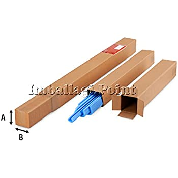 5 piezas Cajas de cartón telescópicas Tubo 41 x 41 x 120 cm ...