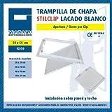 Nuevo Trampilla de Chapa Stilclip, Lacada Blanca, 500mm x 500mm, Cartón Promofix 1 Pieza