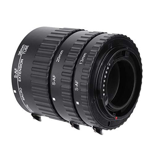Anillo de lente de cámara, lente de adaptador Ma-cro, adopta materiales metálicos de alta calidad, puede disminuir la longitud focal de la lente, para DSLR So-ny A-lpha(MK-S-AF1-B)