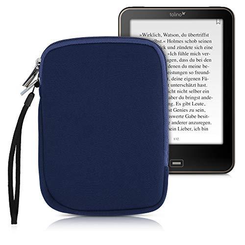 kwmobile Schutztasche für eReader - Neopren Tasche Hülle Cover Hülle Schutzhülle Dunkelblau - 17 x 12 x 2 cm Innenmaße