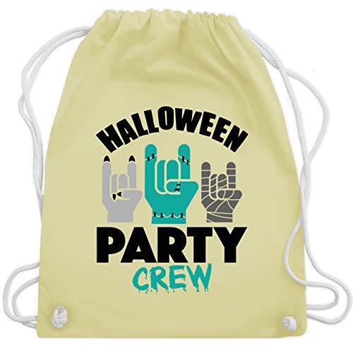Shirtracer Halloween - Halloween Party Crew - schwarz - Unisize - Pastell Gelb - Geschenk - WM110 - Turnbeutel und Stoffbeutel aus Baumwolle