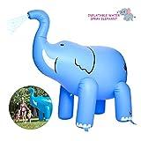Bilisder Aspersor de Elefante Inflables Juguetes Inflables del Agua Juego del Chapoteo del Agua Diversión de Verano para Niños