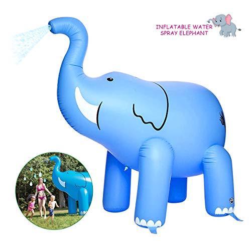 Aufblasbares Elefanten Sprinkler für Kinder, Sommer Garten Kinder Spiele im Freien für Outdoor Familie Sommer-Spaß