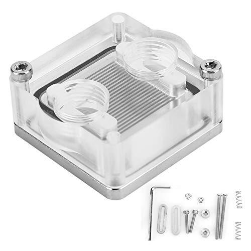 Shipenophy Transparenter CPU-Wasserkühlungsblock Wasserkühlungsblock Gute Leistung Computer-Kühlkörper für PC für Computer-Flüssigkeitskühler