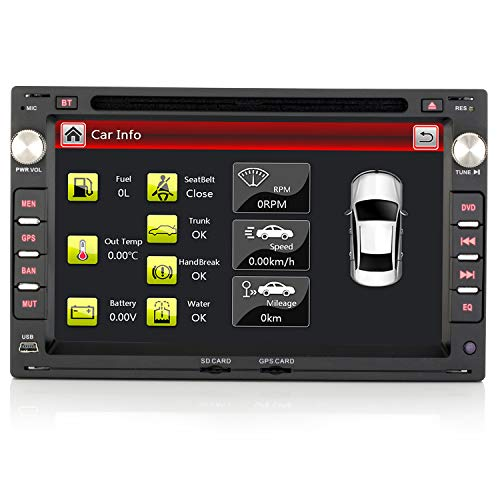 iFreGo 7 Zoll 2 Din Autoradio Für VW Leon Für Volkswagen Seat und Skoda Autoradio Bluetooth Radio Navigation DVD CD DAB+ Windows CE 6.0