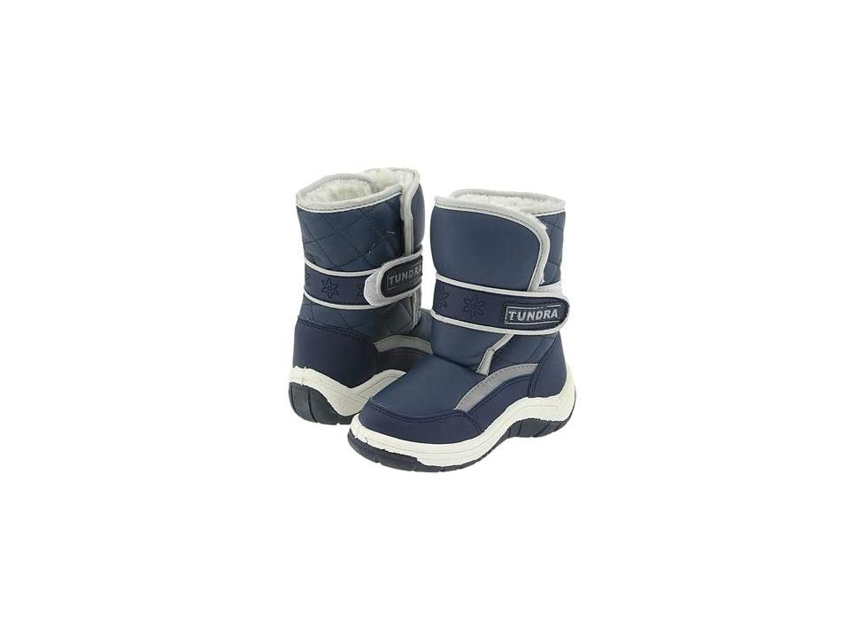 Tundra Boots Kids Snow Kids (Toddler/Little Kid/Big Kid) (Navy) Boys Shoes