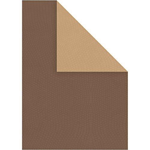 Strukturkarton, A4 21x30 cm, 250 cm, braun/sand dunkel, 10Blatt