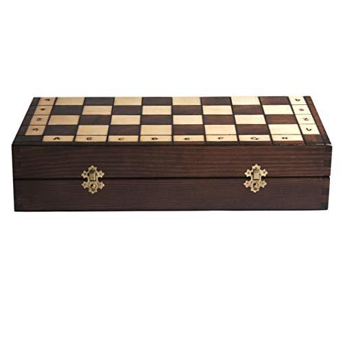 Celebration Schachspiel Schach Weinbox aus Holz für 2 Flaschen
