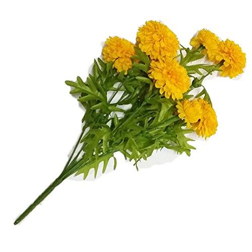 GoodGoodsThailand, Thai Artificial Yellow Marigold Bunch, Artificial Flowers, Marigold Flowers, Yellow Flowers, Marigold Yellow, Calendula officinalis