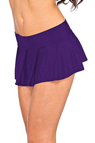 Arunta - Minifalda estilo colegiala, talla XS-M, 34-38, disponible en negro, rojo, violeta, rosa o turquesa