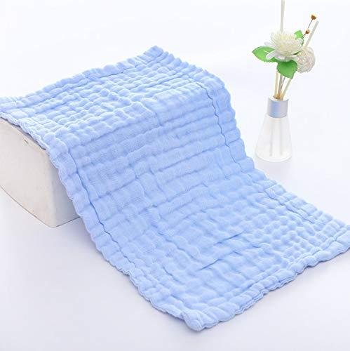 Muslin - Confezione da 4 panni grandi in 100% cotone, 6 strati extra assorbenti e morbidi, 25 x 50 cm, colore blu, The Fashion and Design Store