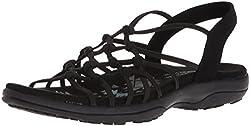 top rated Skechers Women's Web Gore Reggae Heel Open Heel Sandals With Web Gore、Black 9 2021