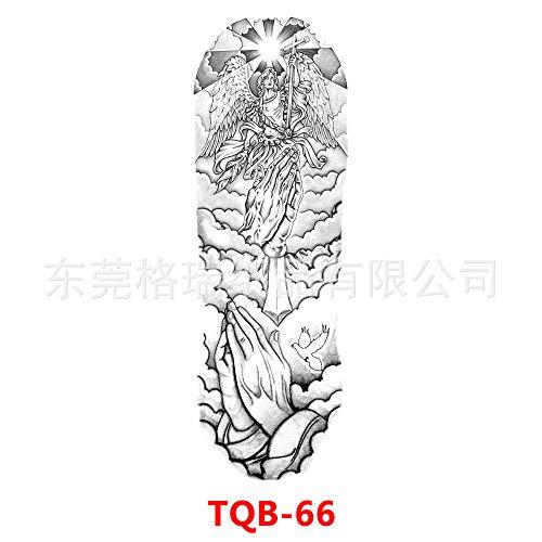 3 Unids Brazo Completo Tatuaje Pegatinas Brazo Completo Tatuaje Pegatinas Desechables Impermeable Foto Grande Brazo de Flor