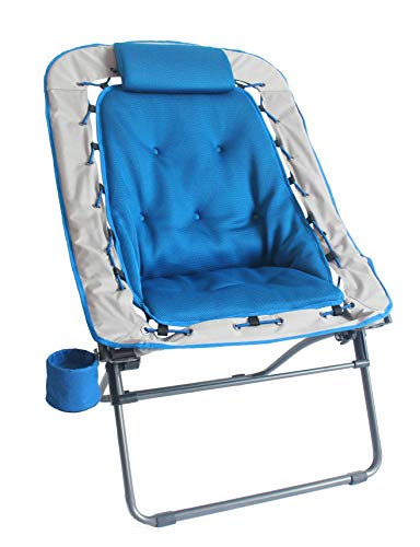 Foldable Rectangular Air Mesh Indoor Outdoor Bungee Chair (Pack of 2)