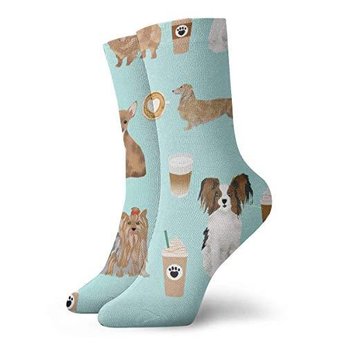 Calcetines de vestir con estampado de colores para hombre de café y menta