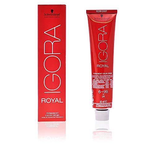 Schwarzkopf IGORA Royal Premium-Haarfarbe 6-99 dunkelblond violett extra, 1er Pack (1 x 60 g)
