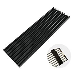 M.2 SSD Heatsink Aluminum with Silicone Thermal Pad for PCIe NVMe M.2 2282 SSD Drives Cooling Fin Radiation Dissipate in Laptop Computer and Desktop PC Three Colors Optional (Black)