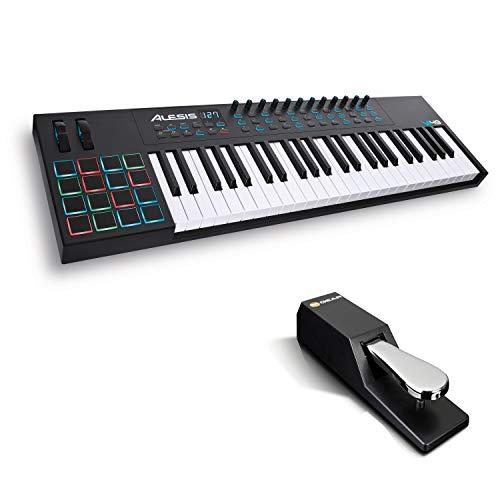 Teclado MIDI USB Alesis VI49 + M-Audio SP-2
