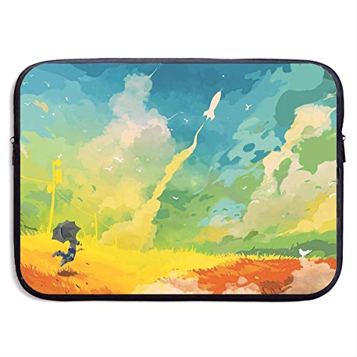 Fashion Computer Liner Sleeve Case Beautiful Abstract Rocket Art Portable Laptop Protective Bag Cover Handbag for MacBook Pro/MacBook Air/Asus/Dell,15inch