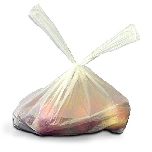 2.000x Folienbeutel 28 + 14 x 48, weiss, geblockt 20x100 Stück, Hemdchentragetaschen   Einkaufsbeutel in 28+14x48 cm   Plastiktüten   HUTNER