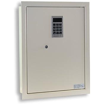"Stash Safe Protex PWS-1814E Electronic Keypad Wall Safe, 5.25"",Beige"