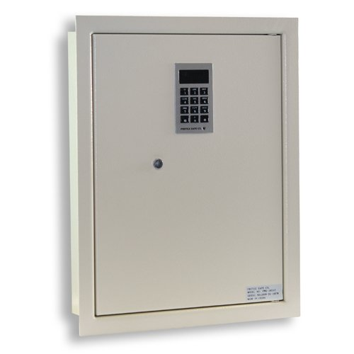 Protex PWS-1814E Electronic Keypad Wall Safe, 5.25',Beige