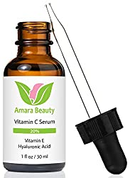 Amara Organics Vitamin C Serum for Face 20% with Hyaluronic Acid & Vitamin E