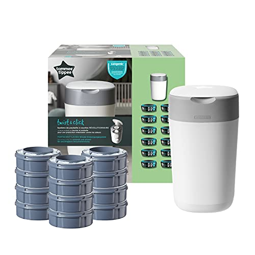 Tommee Tippee Starter pack twist and click contenedor de pañales + 12 recambios