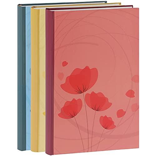 Erica Lot de 3 Albums Photos Ellypse 2 Bleu Rouge Jaune à Pochettes pour 300 Photos 11.5x15