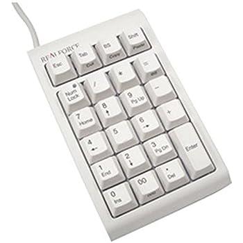 東プレ テンキー REALFORCE23U USB 有線接続 静電容量無接点方式 ケーブル長/80cm カスタマイズ機能付(DIPスイッチ) 昇華印刷 ALL45g荷重 ホワイト WC0100