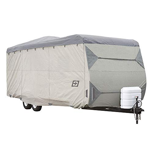 """Expedition Travel Trailer Covers by Eevelle - fits 18'-20' - 246""""L x 102""""W x 104""""H - Gray"""