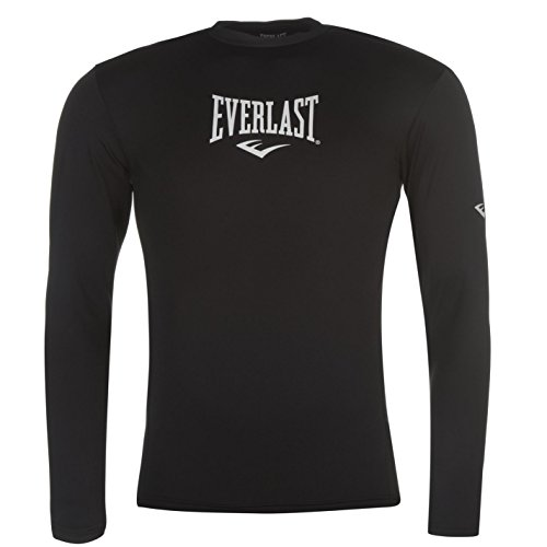 Everlast Herren Long Unterwäsche Top Oberteil Schwarz UK Small