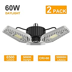 """[MORE BRIGHTER]-High quality LED inside Pass LM-80 ,total 144pcs high quality led chip produce 110 lumens per watt, up to 6500 lumens. """"CRI >80"""" which will make your garage or work bench looks very good and bright. This light good for large areas, ga..."""