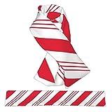 Bufanda cruzada de franela con diseño de bastón de menta y caramelo, rayas rojas, bufandas de cuello de Navidad, de felpa, de doble cara, suaves y ligeras, para mujeres, hombres y adolescentes