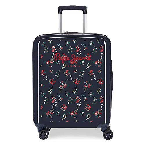 Pepe Jeans Daniela Cabin Suitcase Blue 55 cm Rigid ABS Closure TSA 38.4L 2.9 kg 4 Wheels Hand Luggage