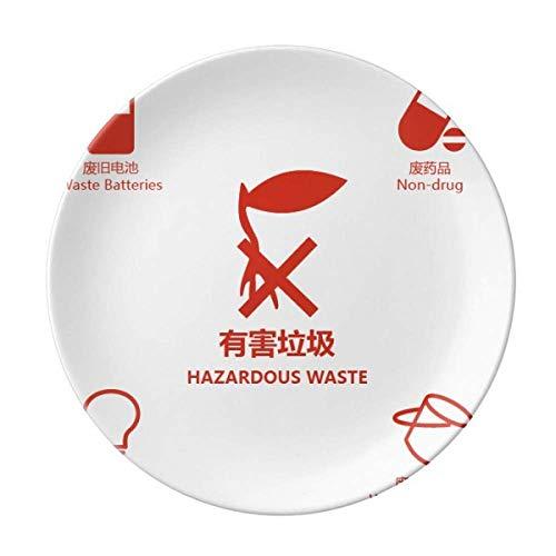 Müllbatterien Trennteller für schädliche Abfälle, dekoratives Porzellan, Salver Geschirr, Abendessen