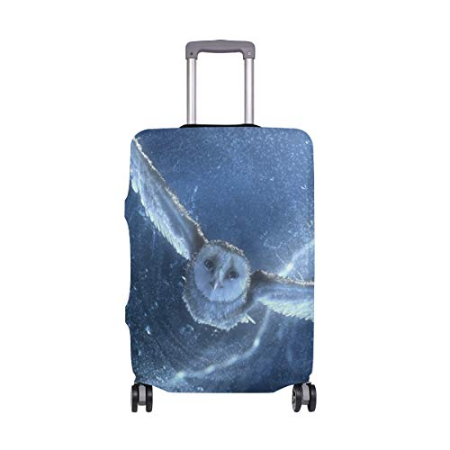 AJINGA Owl Flying Snow Storm Travel Luggage Protector Suitcase Cover XL 29-32 in