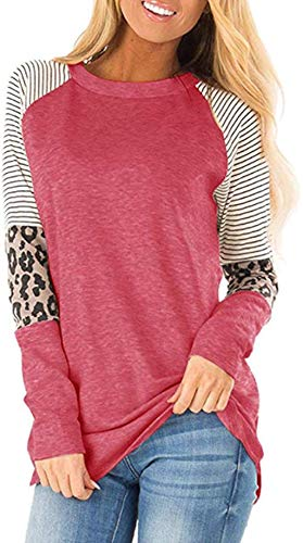 Mujer Casual Suelto Jersey Suéter Pullover Camiseta